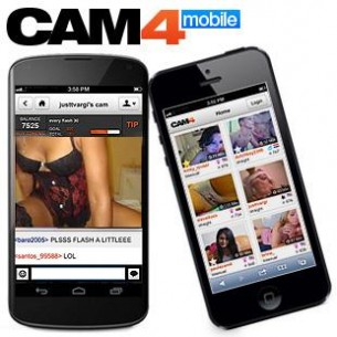 Cam4 su iPhone, iPad, Android smartphone