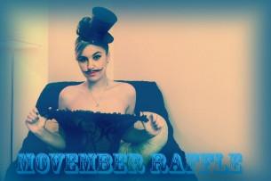 La bionda sexy ChemicalGirl raccoglie fondi per Movember