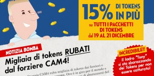 Notizia Shock dal Quartier Generale CAM4: Tony regala Tokens!