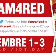 World AIDS Day: Twitta una foto #CAM4RED e aiutaci a donare!