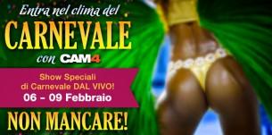 Il Carnevale Brasiliano è anche in webcam su CAM4!