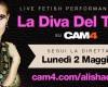 La Diva Del Tubo in webcam live su CAM4!