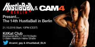 CAM4 al KITKATCLUB di Berlino per la 14° edizione del Gay Party HUSTLABALL