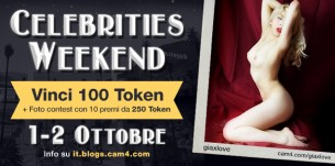 CAM4 CELEBRITIES: Weekend a Tema + Sexy Foto Contest con tanti premi!