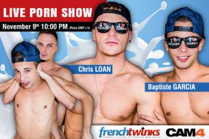 Dietro le quinte di un vero film porno con i Twink francesi!