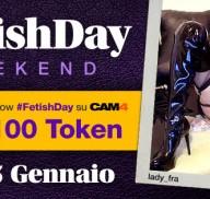Unisciti al #FetishDay su CAM4 e ricevi 100 token!