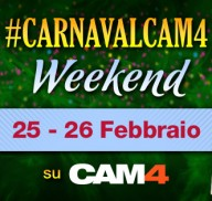 Il Sexy Carnevale del weekend a tema CAM4!