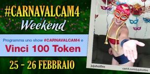 CarnavalCAM4 weekend! Fino a 200 token per i costumi più sexy!