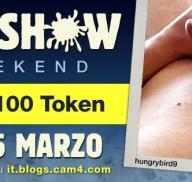 Cum Show Weekend: masturbati e vinci fino a 200 token! (Uomini)