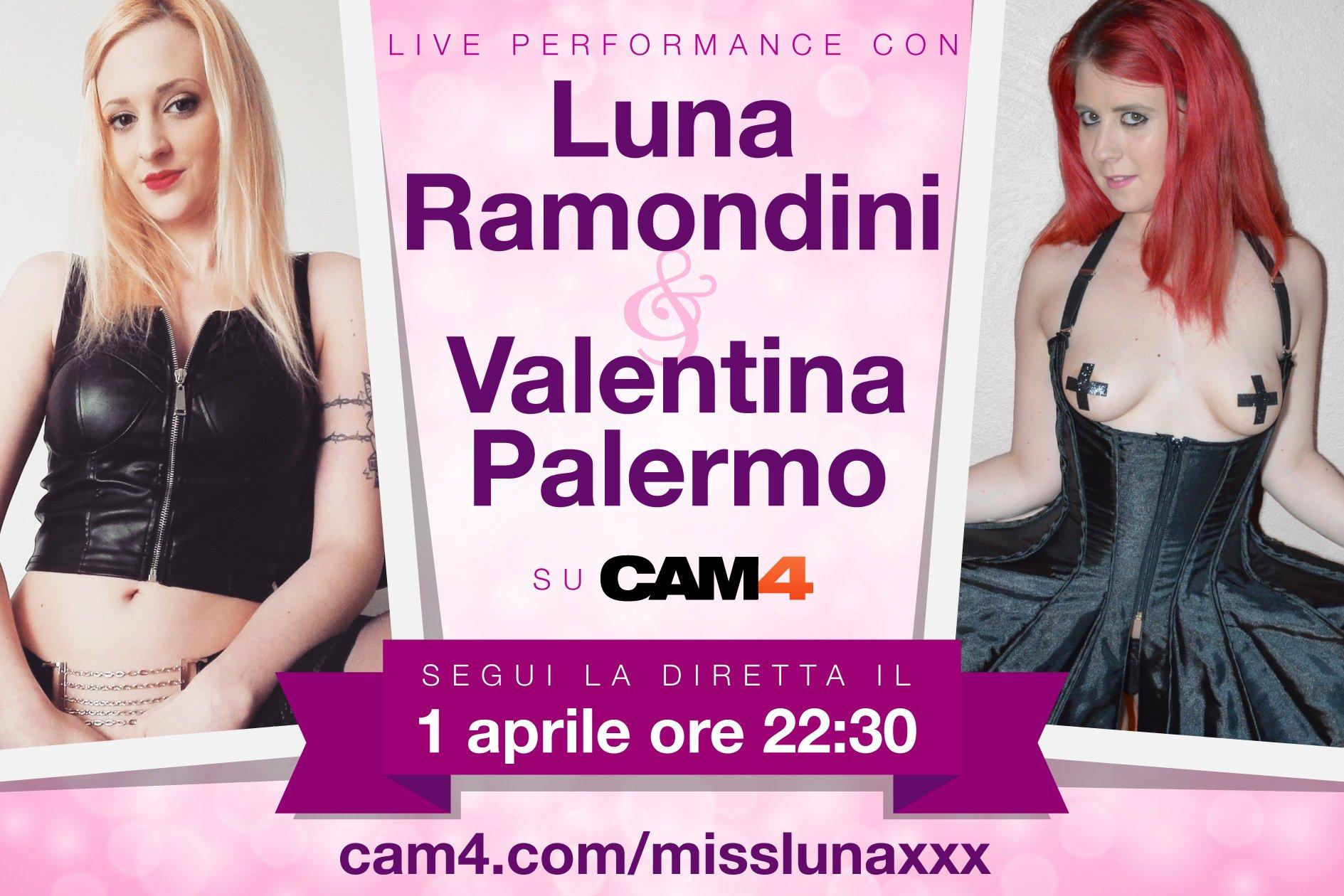 Luna Ramondini & Valentina Palermo Special Show – 1 Aprile in cam live su CAM4!