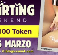 Squirting Weekend: per te in palio una pioggia di 200 token! (Donne)