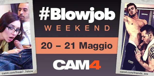 Un gioioso Pompino Party in arrivo su CAM4 – #blowjob weekend!