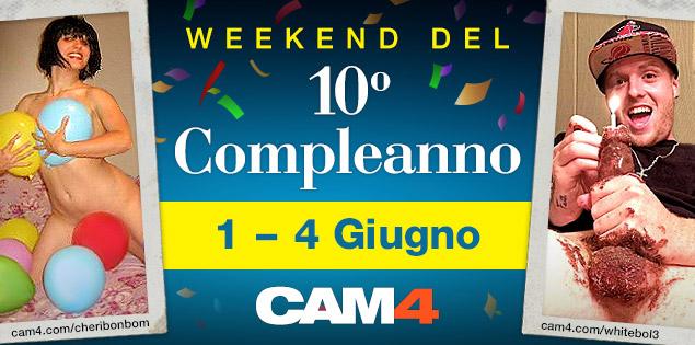 Unisciti ai festeggiamenti del 10° compleanno di CAM4!