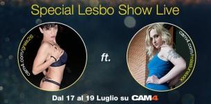 Greis26 e Luna  Ramondini: lesbo maratona su CAM4 il 17-18-19 Luglio