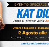 Show Speciale con la Pornostar latina Kat Dior – gratis per tutti i Gold!