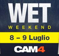 Un Fine Settimana Bagnato su CAM4! Scopri i sex live show del WET WEEKEND!