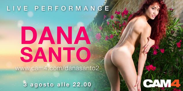 La pornostar italiana Dana Santo live su CAM4 giovedì 3 Agosto ore 22!
