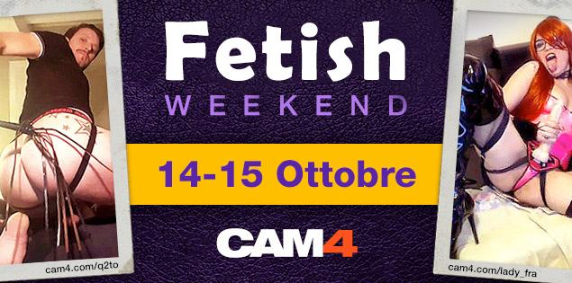 Bollenti show a tema FETlSH in arrivo nel fine settimana CAM4!