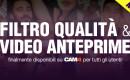 Filtri e Video Anteprime: nuove funzioni per tutti gli utenti CAM4!