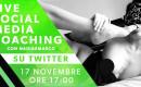 Live coaching su Twitter con Nadiaemarco
