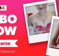 La prima volta di Golosonahot con MilkaDolce, il Lesbo Show in Diretta!