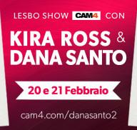 Nuova diretta esplosiva con le pornostar Dana Santo e Kira Ross!