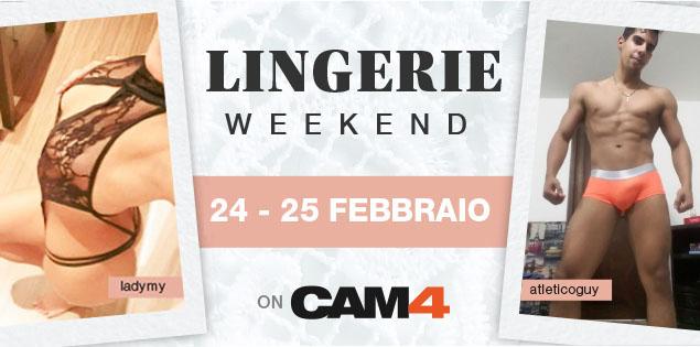 In arrivo tantissimi show in intimo sexy: lingerie, boxer, jockstrap… Programmi per questo weekend?