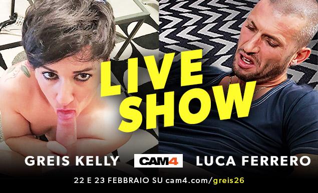 Il pornoattore Luca Ferrero Vs l'insaziabile Greis26 live su CAM4!