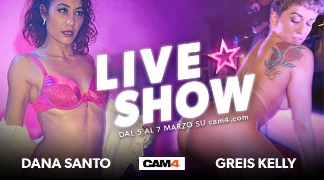 Dana Santo e Greis Kelly – nuova coppia lesbo su CAM4 il 5-6-7 Marzo