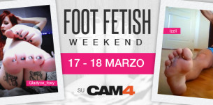 Foot Fetish Weekend: in arrivo su CAM4 show con calze, sandali, tacchi, piedi e footjob!