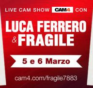 Fragile7883 per la prima volta in webcam con il pornoattore Luca Ferrero!
