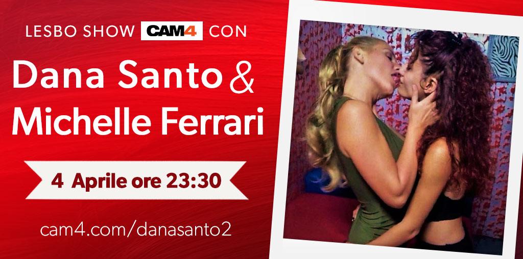 La pornostar Michelle Ferrari per la prima volta su CAM4 con Dana Santo!