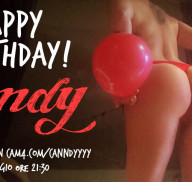 Sei invitato al Sexy Birthday Show di Canndyyyy, Giovedì sera su CAM4!