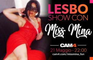 Miss Mina Show: Un Lesbo Party e il backstage del suo nuovo film porno LIVE!