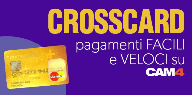 CAM4 e CROSSCARD si unisco per offrirti una nuova carta economica e facile da usare, con cui riscuotere i tuoi token!
