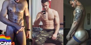 I manzi di CAM4 – muscoli, tatuaggi e… tanti bei cazzi enormi!