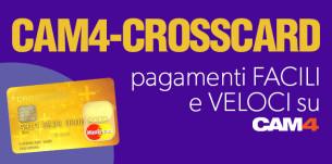 CAM4-CROSSCARD la nuova carta economica e facile da usare, con cui riscuotere i tuoi token!