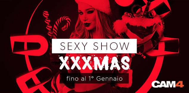 CAM4 XXXMas party: sexy show in diretta fino al Primo Gennaio!