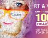 CAM4 Italia festeggia 100K follower regalando 100 pacchetti di Token!